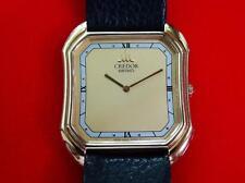 UNISEX  SEIKO  CREDOR  14K SOLID GOLD CASE & 14K BUCKLE  QUARTZ  100%   ORIGINAL