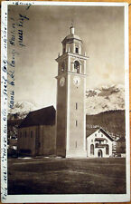 1925 Switzerland Realphoto Postcard: Swiss Clock Tower