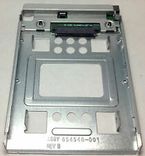 Original HP 2.5'' SSD to 3.5'' SATA converter hard drive bay bracket 654540-001