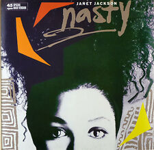Janet Jackson - Nasty - Maxi LP - washed - cleaned - L2332