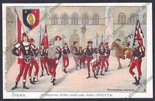 SIENA CITTÀ 54 PALIO Contrada della Civetta COSTUMI Cartolina 1900