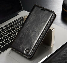 Luxury Magnetic Leather Flip Wallet Case Cover Card Holder For iPhone & Samsung