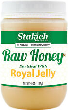 40 oz Royal Jelly Enriched Pure Raw Honey 100% Natural Gluten Free Fresh Potent
