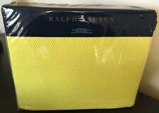 RALPH LAUREN Palmer COTTON KING BLANKET Slicker Yellow ASHLYN NWT MSRP $255