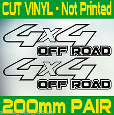 PAIR New 200mm 4x4 OFFROAD 4WD Diesel Ute Stickers