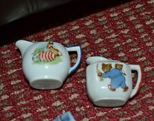Vintage Child's Tea Set Teapots or Creamers - Porcelain - Bear & Easter Bunny