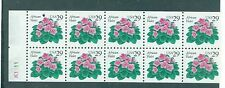 US 2486a African Violet 29c  booklet pane never folded   MNH POF 10 stamps