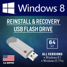 WINDOWS 8 REINSTALL or repair USB flash drive — Disk for ALL 64-bit versions