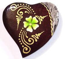 Magnet Aimant Cœur Amour Bois Frigo Artisanal Animal wooden Heart fleur