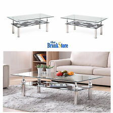 Glass Coffee End Table Living Room Accent Tables Modern Furniture Home Decor
