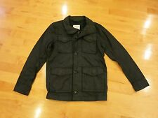 NWT ABERCROMBIE & FITCH MENS  WAXED COTTON JACKET BLACK SIZE M