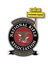 NRA Life Patch Decal Sticker Gun Rights National Rifle Association Pistol GN50