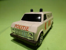 MADE IN CHINA 9032 BUS VAN POLITIE POLICE CAR 1/43 - GOOD CONDITION -