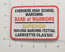 Cherokee High School Marching Band of Warriors Patch