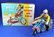 Blech / Tin: Motorrad mit Seitenwagen / Motorcycle with Sidecar, MS 709, China