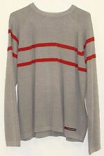 A&F Abercrombie Mens Grey Acrylic Cotton Long Sleeve Crew Neck Sweater XL
