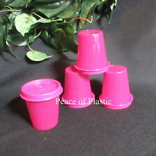 Tupperware NEW Set 4 RASPBERRY DARK PINK PURPLE Midget Midgets Small Containers
