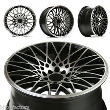 "XXR 553 17"" 8.25 ET22 5x100 5x114.3 BLACK MACHINED WIDE RIMS ALLOYS WHEELS Z2936"