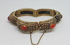 RARE ANTIQUE CHINESE EXPORT SILVER FILIGREE BRACELET 32.2 G.