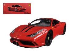 BBurago Signature Series 1/18 Ferrari 458 Speciale Red 16903 Burago Diecast Car