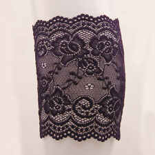 Women Lady Stretchy Lace Boot Cuffs Shoes Decor Trim Toppers Short Socks Cover
