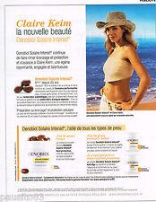 PUBLICITE ADVERTISING 065  2014  OENOBIOL  cosmétique solaire avec CLAIRE KEIM
