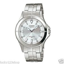 MTP-1214A-7A White Casio Men's Watches Stainless Steel Analog Water Resistant