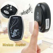 Wireless Plug-in Portable Digital DoorBell Chime Waterproof Remote Control LED