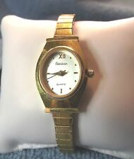 Vintage Woman's Amitron 25/5394-4  Watch with Spidel Band Runs Great - lot061