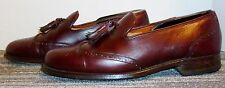 GRENSON ENGLISH BENCH MADE BURGUNDY LEATHER WINGTIP LOAFERS SIZE 9.5 D! W@W!