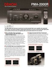 Denon PMA-2000R Amplifier Owners Manual