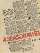 12/2/83PN24/25 INTERVIEW WITH PICTURE/POSTER: RICHARD HELL A SEASON IN HELL