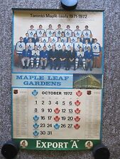 1970/71, 1971/72 & 1972/73 Toronto Maple Leafs Export A Calendars.