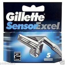 5 Gillette Sensor Excel Razor Blades. 100% Genuine. Same day Dispatch Before 1PM