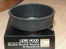 OLYMPUS OM ZUIKO 35-70mm F3.5-4.5 35mm F2.8 50mm F1.2 F1.4 F1.8 RUBBER LENS HOOD