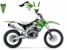 BLACKBIRD KAWASAKI KXF 450 2012 KIT GRAFICHE ADESIVI DREAM 3 GRAPHICS VERDI NERE