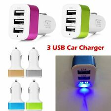 Universal 3 USB Port Car Charger Adapter For iPhone 5S 6 Plus Samsung S6 HTC LG