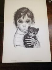 Walter Margaret Keane Black White 1960's Vintage Print FRIENDS Big Eyes + BONUS