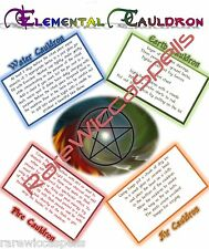 Elemental Cauldron Rituals Spells for Wicca Book of Shadows Witchcraft Pagan
