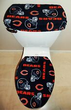NFL CHICAGO BEARS Fleece Fabric Toilet Seat Cover Set Bathroom Accessories