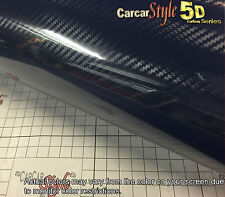 5D Gloss  Shining 【1520mm X 300mm】Carbon Fibre Vinyl Wrap Sticker for Wrapping