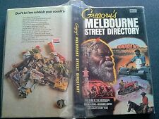 GREGORYS MELBOURNE STREET DIRECTORY BOOK HB  5TH EDITION AUSTRALIAN ABORIGINAL