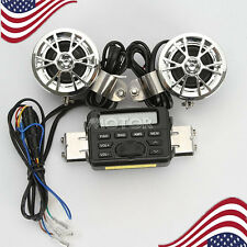 Motorcycle Handlebar Radio Audio FM MP3 Stereo Speaker For Harley Softail Dyna