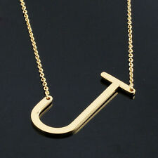 Fashion Women's stainless steel Gold/Silver 26 Letter Necklaces Pendants Jewelry