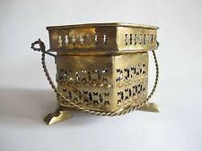 Edel Stövchen Speisewärmer Teelicht Untersetzer aus Messing Bronze Orient