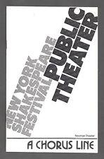 """Donna McKechnie """"A CHORUS LINE"""" Marvin Hamlisch 1975 Off-Broadway Playbill"""