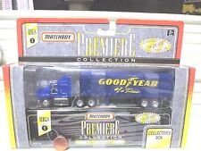 Matchbox 1996 PREMIERE RIGS SERIES 1 GOODYEAR FORD AEROMAX Transporter Rig NuBxd