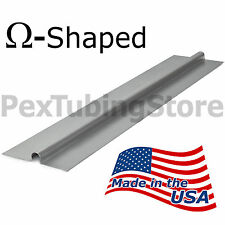 "(100) 2ft Aluminum Radiant Heat Transfer Plates for 1/2"" PEX Tubing OMEGA-SHAPED"