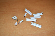 5 Sets White Anti-dust Dock Plug & 3.5mm Earphone Anti-Dust Cap for iPhone 4S