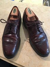 CHURCH'S Burgundy Shell Cordovan Bench Made Wingtips Oxfords Men's 8.5 44/D